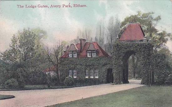 The Lodge Gates, Avery Park, Eltham, London, England, UK, 1900-1910s
