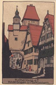 ROTHENBURG O.T., Bavaria, Germany, 00-10s ; Roderbogen u. Markusturm
