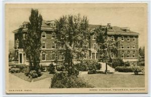 Shriner Hall Hood College Frederick Maryland postcard