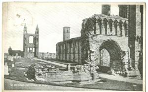 UK, St. Andrews Cathedral, W. Front, 1938 used Postcard