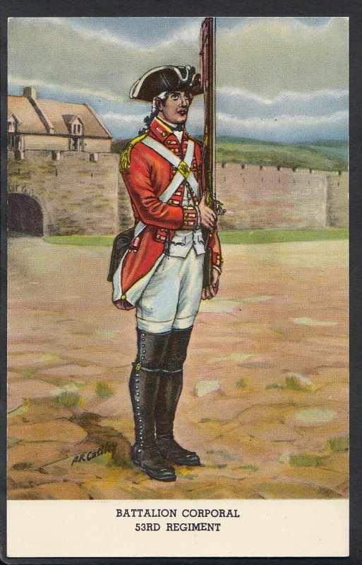 Military Postcard - Battalion Corporal 53rd Regiment Soldier  RS4177