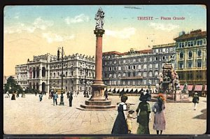 Italy Napoli Naples View of Piazza Grande 1913