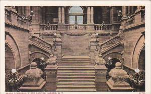 New York Albany State Capitol Building Grand Staircase