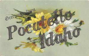 F27/ Pocatello Idaho Postcard c1910 Greetings from Pocatello