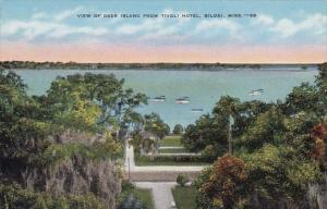 Mississippi Biloxi View Of Deer Island From Tivoli Hotel