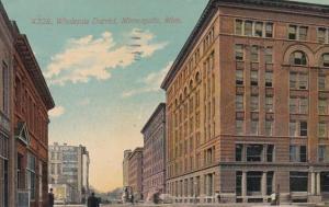 Minnesota Minneapolis View Of Wholesale District 1911