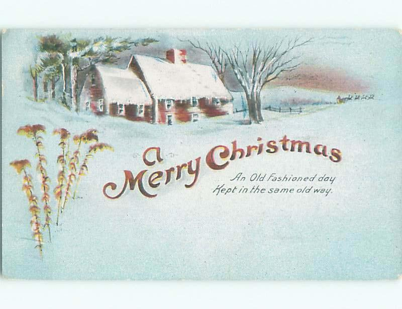 Divided-Back CHRISTMAS SCENE Great Postcard W9409