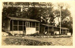 NY - Tupper Lake. Legion Camp, Lean Tos, Convalescent Area   RPPC