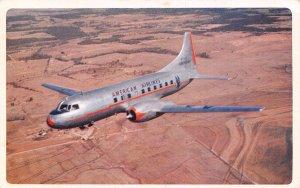 American Airlines Plane 1951 postcard