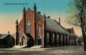 SIMCOE , Ontario , 1900-10s ; Methodist Church ; TUCK 1024