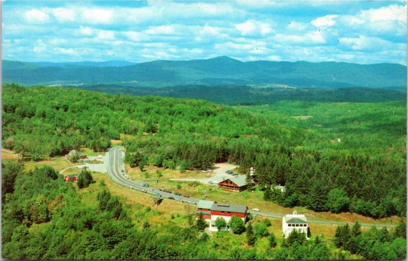 Aerial view of Hogback Mountain, Route 9, Molly Stark Trail, Vermont