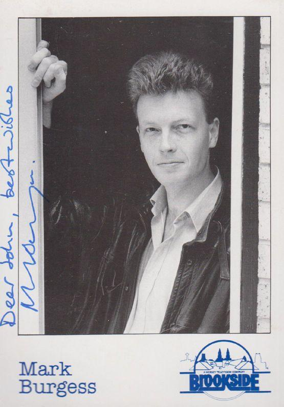 Mark Burgess Hand Signed & Reverse Message Brookside Cast Card