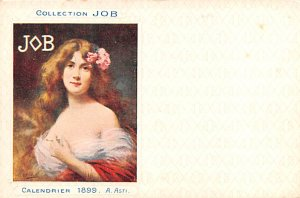 Job Cigarette Advertising Post Card Calendrier 1899 A. Asti Collection JOB Un...