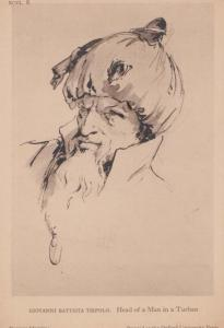 Giovanni Tiepolo Head Of A Man In A Turban Italian Art British Museum Postcard