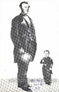 Cape Breton Giant Angus MacAskill 7ft 9 in, 500 lbs.  and Tomb Thumb, Circus ...