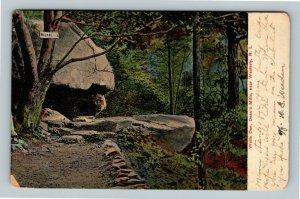 Westerly RI, Wolfs Den, Deans Mills, Vintage Rhode Island Postcard