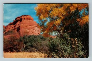 Sedona AZ- Arizona, Fall Boynton Pass, Oak Creek Canyon, Chrome Postcard