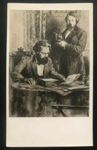 Mint Hungary Picture Postcard Karl Marx & Engels Working