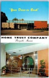 Perryville, Missouri Postcard HOME TRUST COMPANY Your Drive-In Bank c1960s