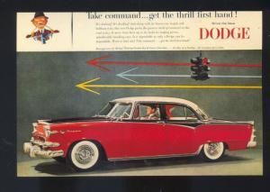1956 DODGE CAR DEALER ADVERTISING POSTCARD '56 MOPAR
