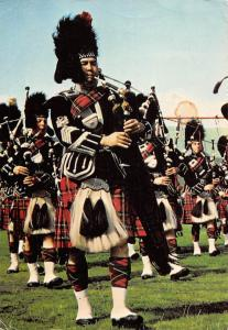 Royal Stuart tartan, A Scottish Pipe Band - full Highland Dress