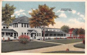 Kearney NE Pathways Around the Sanitarium~Mid-Autumn View~1920s Postcard