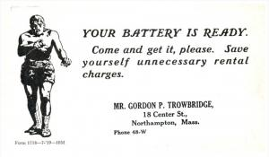 Massachusetts  Northampton  Gordon P.Trowbridge Your Battery, Gladiator