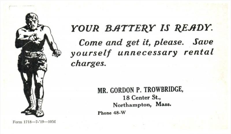 9362  MA Northampton  Gordon P.Trowbridge Your Battery, Gladiator