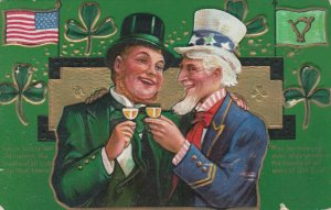 ST. PATRICK'S DAY ; Ireland & USA share a drink , 1908