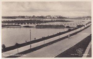 Bicycle at Kalmar Fredrisskans-Bron Antique Sweden Postcard