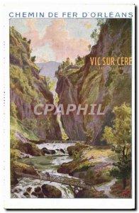 Old Postcard Train Railways & # 39Orleans Vic sur Cere