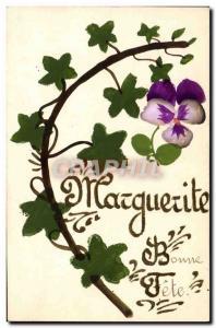 Old Postcard Marguerite Surname