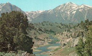 near Mammoth Lakes, California, CA, Hot Creek, Chrome Vintage Postcard g9373