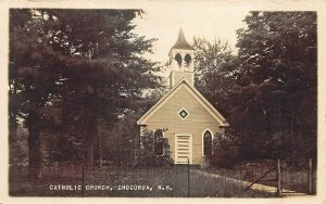 Chocorua NH Catholic Church Real Photo Postcard