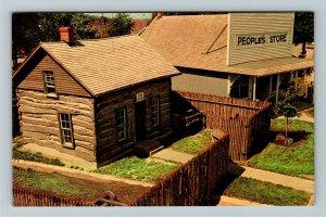 Minden NE- Nebraska, Elm Creek Fort, Pioneer Village, Chrome Postcard