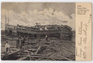Steamer Mary Wrecked in Storm 1906, Mobile AL
