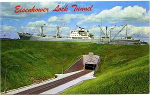 Tunnel Under Eisenhower Lock - St Lawrence Seaway Canal Near Massena NY New York