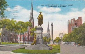 Wisconsin Milwaukee Washington Monument Court Of Honor  1944