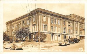 Kelso WA Cowlitz County Court House Old Cars in 1944 Real Photo RPPC Postcard