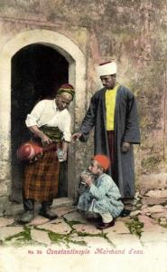 ottoman turkey, CONSTANTINOPLE, Water Merchant, Street Seller (1899) Postcard