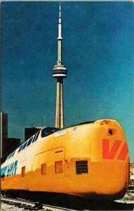 Via Rail Turbo Train CN Tower Toronto Ontario ON Unused Postcard G32