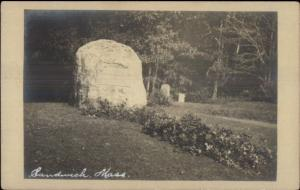 Sandwich Cape Cod MA Monument c1910 Real Photo Postcard