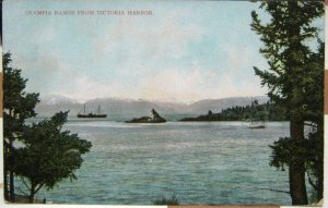 Canada Olympia Range from Victoria Harbor - posted 1911