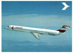 Douglas DC-9 Super 80 Austrian Airlines Postcard 1984