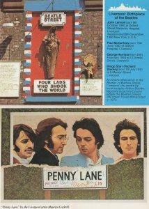 Penny Lane The Beatles Street 2x Liverpool Postcard s