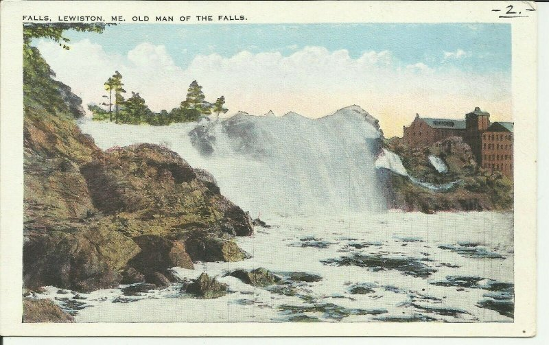 Falls, Lewiston, Me., Old Man Of The Falls