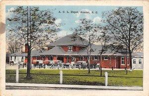 A.C.L Depot Sumter, SC., USA South Carolina Train 1918