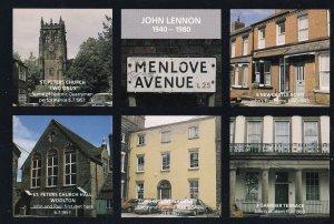 John Lennon The Beatles Menlove Avenue Student Flat Postcard