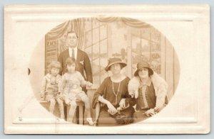 RPPC Chas, Melanie Lemaster Family~Grandma Ted (Theodora?) Claire & Herbert~1913