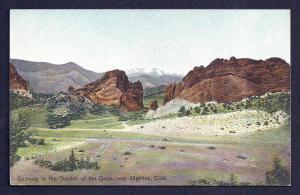 Garden of the Gods Gateway Manitou Colorado unused c1910